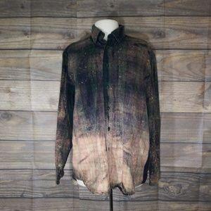 L. L. Bean | Custom Bleached Plaid Flannel Medium